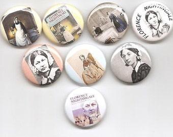 Florence Nightingale Nurse  8 Pins Button Badge Pinback