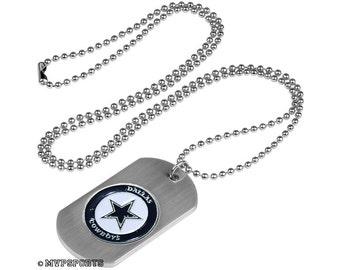 Dallas Cowboys Dog Tag Beaded Necklace