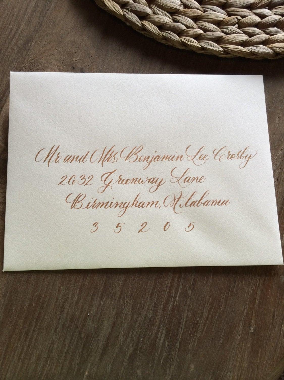 Calligraphy Envelope Addressing Handwritten Custom