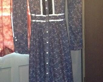 vintage Jessica Mc Clintok praire dress
