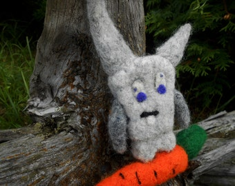 Easter Bunny Needle Felted Bunny Animal Felted Bunny Wool Bunny Felt Bunny Felt Toy Woodland Bunny Easter Gift