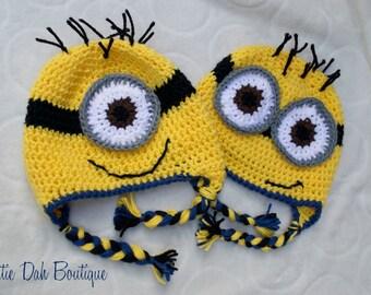 Crochet Minion-Inspired Hat