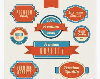 Retro Premium Quality Label Vectors