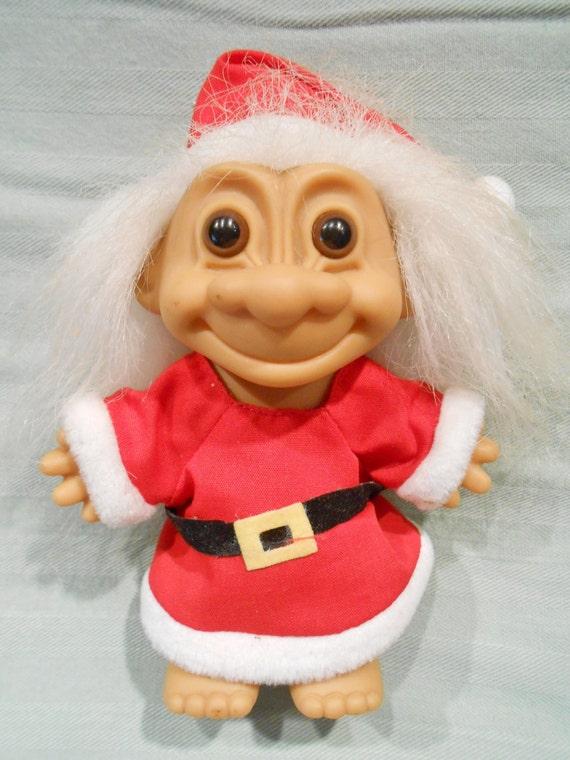 1960 S Vintage Santa Troll Doll Christmas Santa Doll Santa