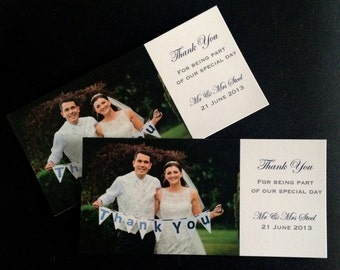 10 | Wedding Photo | Thank You Cards