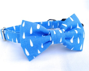 Removable Raindrop Dog Bow Tie