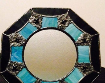 Stained glass mirror.