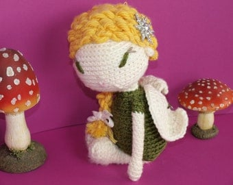 "Crochet Pattern Doll ""Ava, the elf"" PDF"