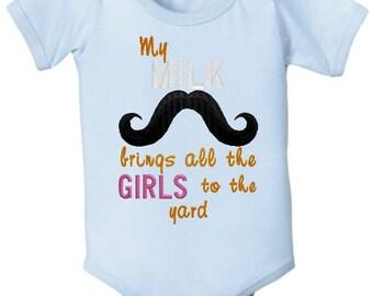 Milk Mustache Onesie