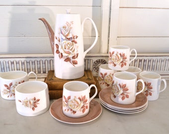 1950s china coffee set by Queen Anne