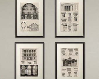 Vintage Architectural Drawing Art Print Nice Home Or Office