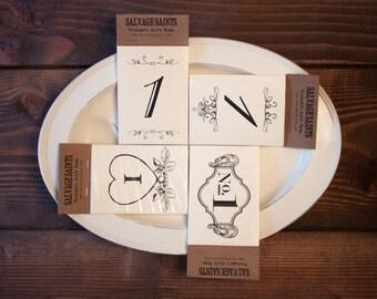 Vintage Table Number Cards (1-20)