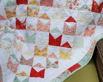 Love Notes Baby Quilt in Vintage Design