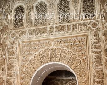 Moroccan Photography: Moroccan Doorway Print 8x10, Moroccan Decor, Morocco Photos, Marrakesh, Marrakech, Moroccan Art, Moroccan Wooden Door