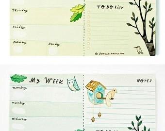 Weekly Planner Personal Organizer (Notepad) - Weekly Agenda Life Planner