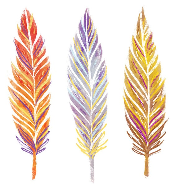 Modest image inside printable feathers