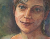 Watercolor Portrait Girl ...