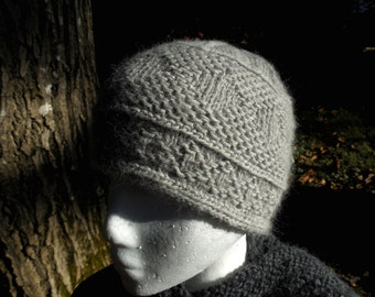 PDF Digital Download Pattern Diamonds Twined Knitted Cap in 3 sizes Cascade Lana D'Oro written and charted instructions