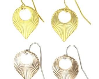 Birdhouse Jewelry - Striped Teardrop Earrings