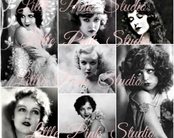 Glamour Girls, DIGITAL Collage sheet, instant download, printable