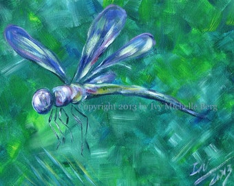 Dragonfly, 2013, Art Print of Acrylic Painting