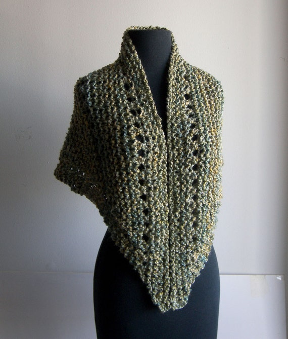 Small Hand Knit Shoulder Shawl Scarf Cowl Wrap Stylish