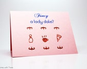 Lady Date Card, Friend Date or Lesbian Date Proposal, Fancy a lady date?