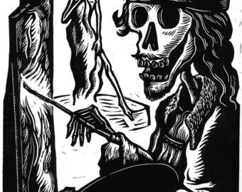 The Artist Original Linocut