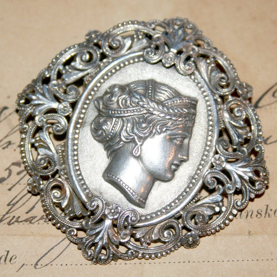 Beautiful FRENCH Vintage Dress Scarf Clip France Jewelry Supplies MARKED Brevete SGDG Wonderful Detail