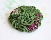 Crochet brooch - My Forest Treasure - reserved for kgiles23