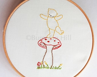 Hand Embroidery PDF Pattern - Teddy Bear Picnic - Teddy Bear Embroidery