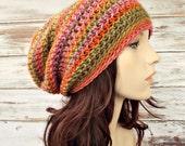 Instant Download Crochet Pattern - Hat Crochet Pattern - Crochet Hat Pattern for Leighton Slouchy Beanie Hat - Womens Hat Womens Accessories