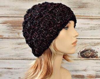 Knit Hat Womens Hat - Waffler Beanie Blackstone Black Knit Hat - Black Hat Grey Hat Black Beanie Grey Beanie Womens Accessories Winter Hat