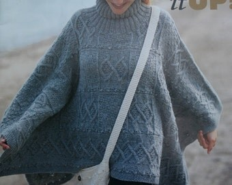 Knitting Patterns Ponchos Shawls Wrap it Up! Beehive Patons 942 Women Vintage Paper Originals NOT a PDF