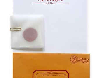 Letter From Santa Stationery Set - Letterpress