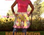 Instant Download Cowgirl Cutie Half Apron Pattern PDF Easy to Sew Kitchen Vintage Market