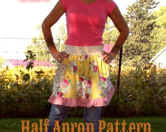 Instant Download Cowgirl Cutie Half Apron Pattern PDF Easy to Sew Kitchen Vintage Market