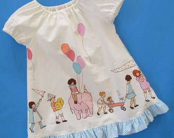 Baby Peasant Dress Pattern  - Beginner Sewing Pattern - Easy Baby Peasant Dress Pattern
