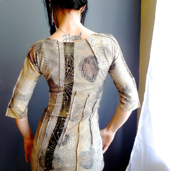 Womens Unique Clothing, Bohemian Wearable Art Top, Futuristic Edgy Top
