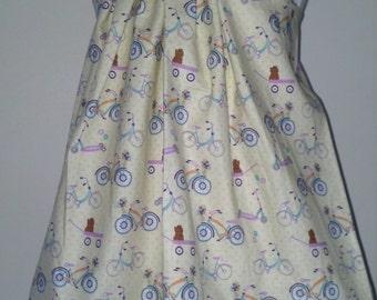 Purple Bicycle Jumper Dress 2t 3t 4t 5 6 6x Girls Children Toddler