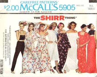 McCall's 5905 THE SHIRR THING Shirred Fabric Wardrobe