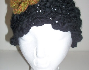 knit flower headband - ear warmer