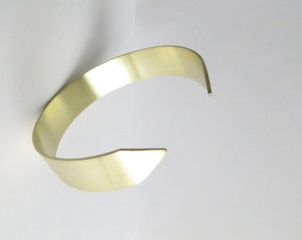 You are Here Minimalist Gold Arrow Cuff Bracelet