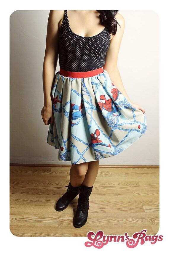 handmade skirt diy high waisted marvel comic skirt
