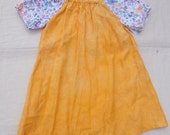 Girls 5T - 7 sunny linen and cotton peasant dress or tunic top