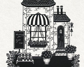 Strawberry Cottage / paper cut - Strawberries collection No. 3
