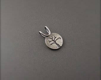 Mini Silver Four Seasons Series - Autumn Tree Pendant