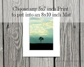 Any 5x7 inch photograph matted to 8x10. You choose the print to have matted,  in a white 8x10 mat, fine art photography