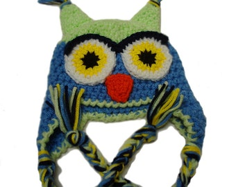 Crochet kids hats, crochet animal hat, baby boy owl hats, owl hat for kids, crochet baby hat, animal hats for children, baby boy photo prop