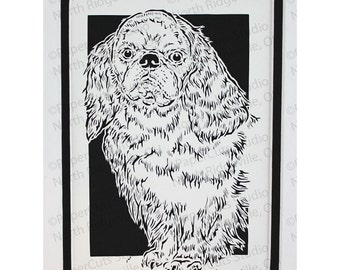 English Toy Spaniel Papercutting- Handcut Original